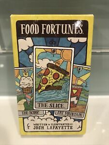 Food Fortunes by Josh Lafayette (English) Novelty 78 Tarot Cards Recipe Book Exc