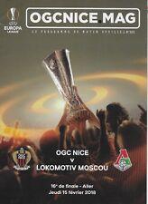 OGC NICE MAG Programme de match officiel n° 303 - OGC NICE v LOKOMOTIV MOSCOU