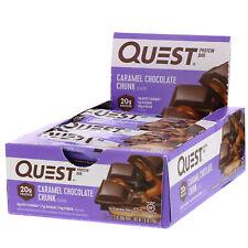 Protein Bar, Caramel Chocolate Chunk, 12 Bars, 2.12 oz (60 g) Each