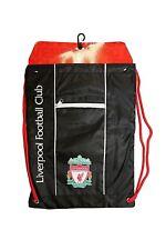 Liverpool Cinch Black Backpack Mochila Book Bag Gym drawstring Sack Soccer