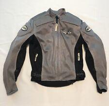 Joe Rocket Ballistic Touring Jacket Mesh Padded Mens Size XS Silver Black