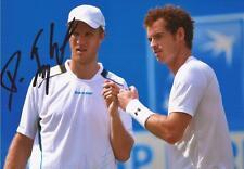 Tenis: Dominic Inglot firmado 6x4 foto de acción + certificado De Autenticidad * Wimbledon GB Copa Davis * * *