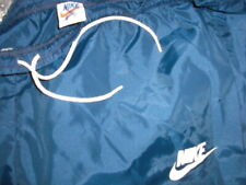 Vintage 1970's NIKE Orange Swoosh Tag blue nylon SWEATS men's Large