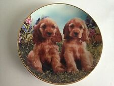 """Danbury Mint Perfect Puppies Plate 8"""" Limited Edition A256 1994"""