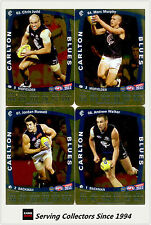 2011 AFL Teamcoach Trading Cards Gold Parallel Team Set Carlton (11)