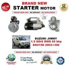 FOR SUZUKI JIMNY 1.5 DDiS RWD 65 bhp SN415D 2003-> STARTER MOTOR 1.4 kW 12 Teeth
