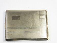 Vintage engine turned cigarette box case holder tin Made in Germany