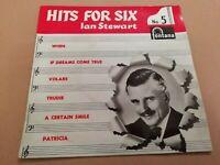 "IAN STEWART * HITS FOR SIX No. 5 * 7"" FONTANA EP SINGLE EXCELLENT 1958"