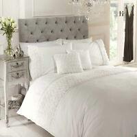 Cream Champagne Rose Ruffle Limoges Floral Chic Duvet Cover Set Bedding Range