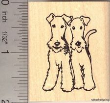 Fox Terrier Pair Rubber Stamp G13001 WM
