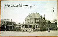 1910 Hammond, IN Postcard: Father Plaster's Residence - Indiana Ind