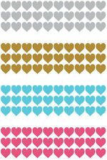 Heart Love Stickers 10mm Mothers valentines day Adhesive wedding party Glass