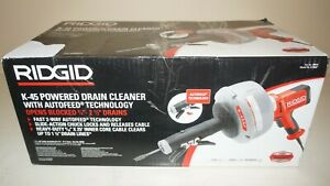 New RIDGID 35473 K-45AF Sink Drain Cleaning Machine w/C-1 5/16 Inch Inner Cable