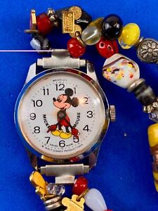 BRADLEY Mickey Swiss made automatic charm dangle moving hands watch