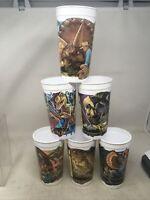 Jurassic Park McDonald's Dinosaur Cups Lot Complete Set of 6 Coca Cola 1992