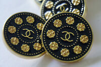 Vintage  Authentic Chanel Button logo cc 💋💋💋 8 pieces 20 mm gold