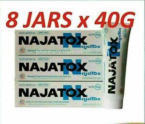 X8 Tubes Najatox - Cobra Snake Ointment Gel 40g
