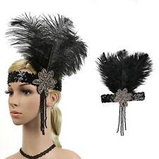 1920s Retro Headpiece Feather Flapper Headband Great Gatsby Headdress Vintage