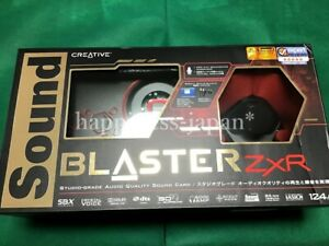 CREATIVE PCIe Sound Blaster ZxR 24bit 192kH SB-ZXR-R2 Hires Tracking Japan New