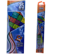 "X Kites Colormax 25"" Rectangle Kite With Handle Line Quikclip Ready To Fly"