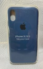 Original Apple iPhone X / Xs Silikon Case in Kobaltblau