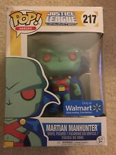 Funko Pop Justice League Martian Manhunter #217 Walmart Exclusive w/protector