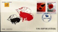 Albania Stamps 2008. Albanian flora (poppy flower). FDC MNH