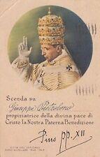 6579) PAPA PIO XII, BENEDIZIONE PER CARTOLINA, GIUBILEO 1942/1943. VIAGGIATA.