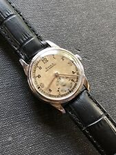 1943 Vintage Doxa Midsize Mens Watch Swiss Made Two Tone Dial 30mm