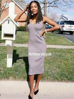 Zara Midi Textured Knit Dress Size S UK 8 10