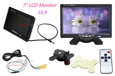 "7""TFT LCD Digital Car Monitor Screen RGB for DVD GPS Backup Rear View Camera US"