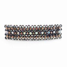 USA BARRETTE Rhinestone Crystal Hairpin Clip Vintage Elegant Simple New Orange