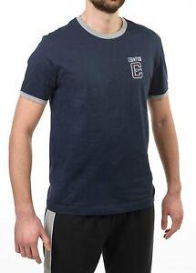 Campione del Signore Ringer T-shirt di New Navy / Oxford Grey, S