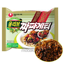 [Nongshim] Olive Chapagetti Black Soybean Chajang Korean Food Noodles 140 g