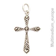 Jugendstil Silber Kreuz Anhänger Markasiten silver cross pendant 🌺🌺🌺🌺🌺