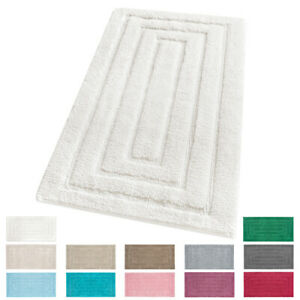 Teppich Badezimmer Zimmer Bettvorleger Weich Reine Baumwolle Edel 100% Made IN