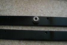 "CNC Stepper Motor Mech Rack & Gear 48"" Rack  (2-24"" pcs) & 1/4"" 15T Pinion Gear"