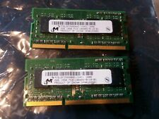 2x2GB Sticks of DDR3 1333 MHz Laptop Memory Micron MT8JSF25664HZ-1G4D1 4GB RAM