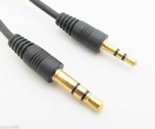 Gold Audio Speaker Cable 3.5mm Plug to 2.5mm Stereo Male Headphones Headset Car