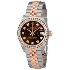 Rolex Lady Datejust Chocolate Diamond Dial Automatic Watch 279381CHDJ