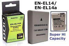 Lithium-Ion Hi Capacity Battery Pack for Nikon D3100 D3200 D3300