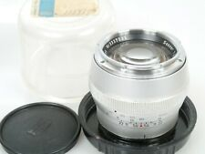 Zeiss Contarex Sonnar 2,8/85 85mm f/2,8 chrom + Plexi-case with lensnumber