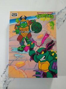 """1991 Teenage Mutant Ninja Turtles Rose Art Puzzle """"Samurai Leonardo"""" Slash TMNT"""