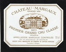 MARGAUX 1ER GCC VIEILLE ETIQUETTE CHATEAU MARGAUX 1971 73 CL RARE §06/09//17§