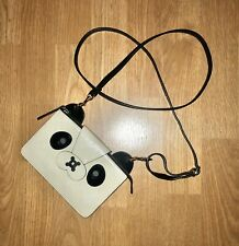 Anya Hindmarch Panda Pouch Patent Leather Purse Crossbody Bag Clutch
