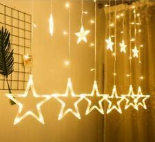 LED Light Stars Christmas Window decoration String Fairy Xmas home party decor