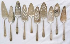 VINTAGE SILVER PLATE SILVERWARE FLATWARE PIE / CAKE SERVER CRAFT USE LOT OF 10 A