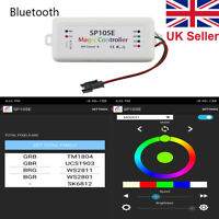 SP105E Bluetooth Magic Color Controller For LED RGB WS2812B/2811 APP iOS Android