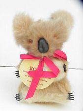 Vintage Koala Bear Kangaroo Fur Plush Toy Animal From Australia