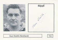 Ken Smith SCOTLAND RUGBY INTERNATIONAL SIGNED PHOTO CARD
